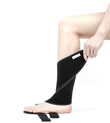 Neofect Attelle pour pied tombant : néoprène respirant, pied tombant, attelle de cheville réglable (right) (la taille 36…