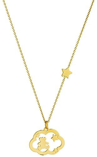 NUAGE ETOILES - Collier ajouré - Or jaune 9 carats - 40 cm - www.diamants-perles.com