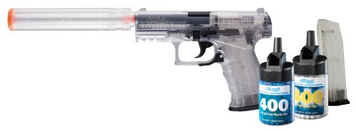 Walther PPQ Spring 6mm  Airsoft Pistol Kit with Accessories, Clear