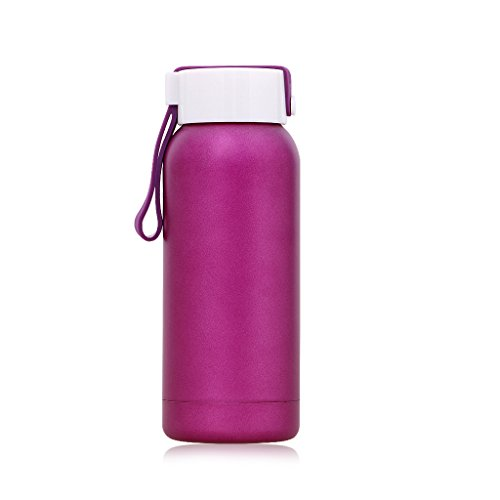 8 Ounce Handle - Small Thermos 8OZ/250ML Insulated Water Bottle Tumbler Stainless Steel Flask with Handle, Purple