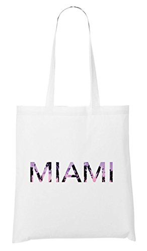 Miami Palms Bag White