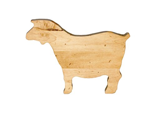 J.K. Adams Goat Novelty Serving Board, Mini, Maple made in New England