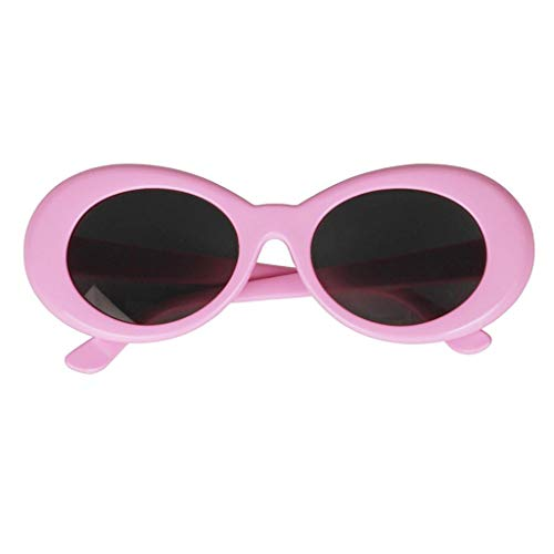 rosado Retro Festivales En Props Moda Party Cosplay Óvalo Eye Clout Goggles Magideal de Adorno Disfraces Sol Gruesas de FiestaA Glasses Gafas Forma wHOxI4q1