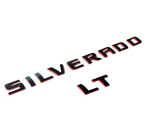 Yoaoo OEM Silverado LT Nameplate Letter Emblem 3D Badge 1500 2500HD 3500HD Original Silverado series LT Red Line