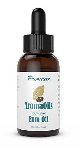 Emu Oil - 1 oz - 100 Percent Pure Oil by AromaOils - Best for Hair Growth, Skin, Face, Stretch Marks, Scars, Muscle Ache, and Joint Pain Emo Hair