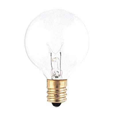 G12 Globe Incandescent Bulb [Set of 25] Color: Clear, Wattage: 25W