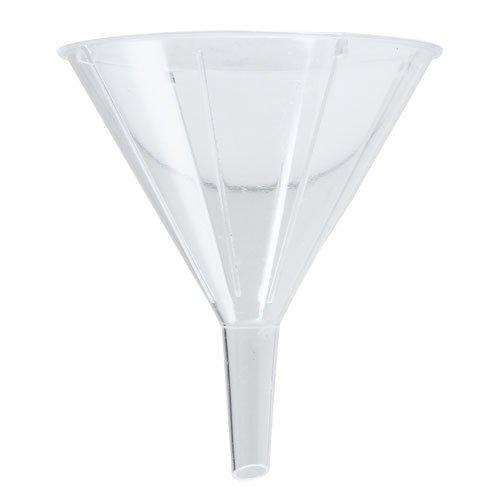 Karter Scientific 210R2 Clear PS Plastic Funnels, Short Stem, 55mm (Pack of 100) by Karter Scientific