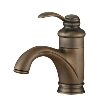 A LHbox Basin Mixer Tap Bathroom Sink Faucet Antique faucet and cold water basin mixer single hole European brass B