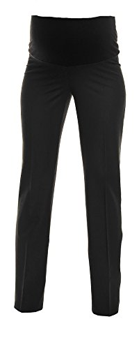 Zeta Ville - Womens Maternity Smart Pants Tailored Work Trousers US 6-18 - 246c (Anthracite Black, 10) (Maternity Pants Long compare prices)