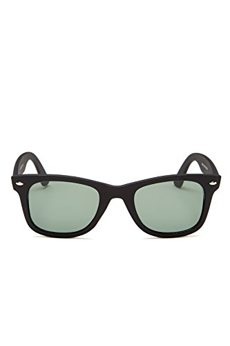 Sunny Rebel Men's Winston Sunglasses + Pouch, Black, - Wayfarer 22 50