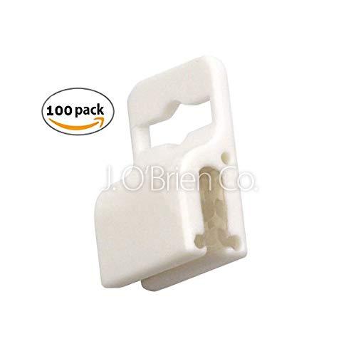 (Brady White Gripper 30 Badge Holder - 100 Pieces (5710-3058))