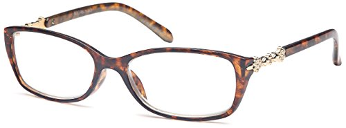GAMMA RAY READERS Multiple Pairs of Metallic Accent Readers Quality Spring Non-Hinge Reading Glasses - With +1.00 Magnification
