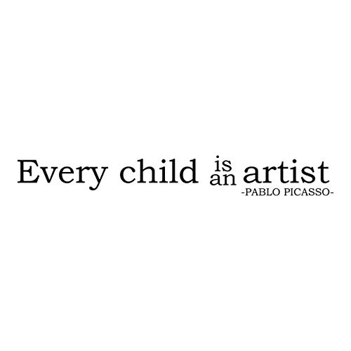 WallDecalQuote Every Child is an Artist Pablo Picasso Inspirational (Pablo Picasso Best Artwork)