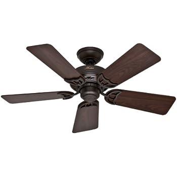Hunter 54111 Markham 52 Inch Matte Black Ceiling Fan With Five