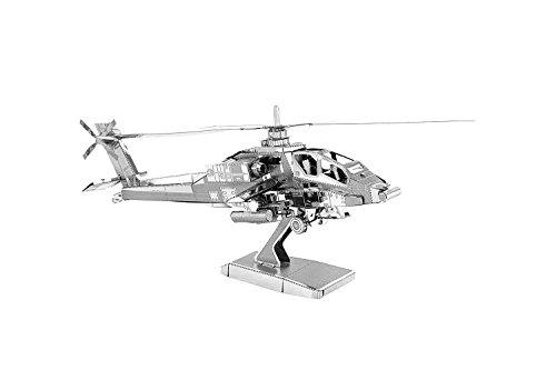 smartec24® 3D Nano Metallmodell Hubschrauber Miniatur 3D Modellbausatz aus Metallstanzteilen. Kein Kleben oder Löten erforderlich! inkl. Montageanleitung