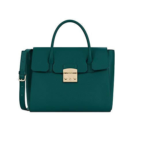 Furla Metropolis Ladies Medium Green Cipresso Leather Satchel 978150