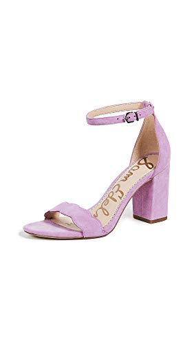 Sam Edelman Women's Odila Heeled Sandal, Sweet Lilac Suede, 6 M - Purple Shoes Designer