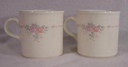 Pfaltzgraff Trousseau Pattern Coffee Mugs, Set of 2
