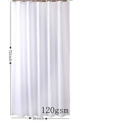 Sfoothome Hotel Fabric Heavy Weight Shower Curtain Waterproof And Mildew Free Bath Curtains72 Inch