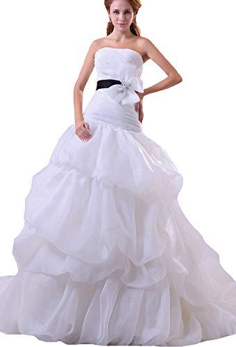 JOYNO BRIDE Yarn Satin Sleeveless Elegant Cathedral Train Mermaid Wedding Dresses(4,Ivory) (Cathedral Train Sleeveless)
