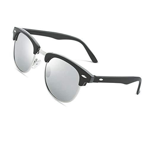 CGID MJ56 Retro Vintage Sonnenbrille im angesagte 60er Browline-Style mit markantem Halbrahmen Sonnenbrille,Brillen trends 2019
