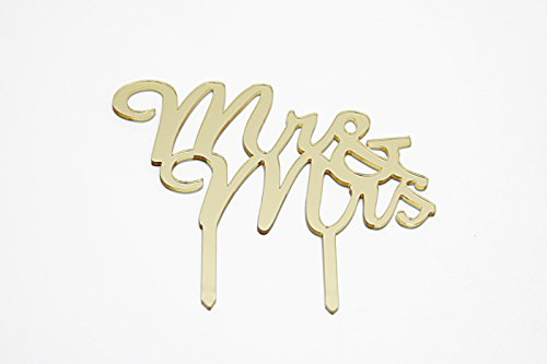 Elegant Gold Mr and Mrs Wedding Cake Topper - Finish Off Your Wedding Cake in Chic Style