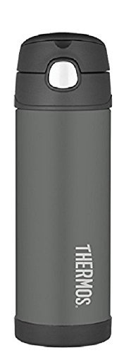 Thermos Funtainer 16 Ounce Bottle, Charcoal