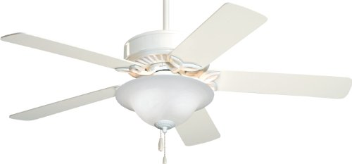 Emerson CF713WW Pro Series Energy Star 50-inch Dual Mount Ceiling Fan with Reversible Blades, 5-Blade Ceiling Fan with LED Lighting (Ceiling Decorative Series Fan)