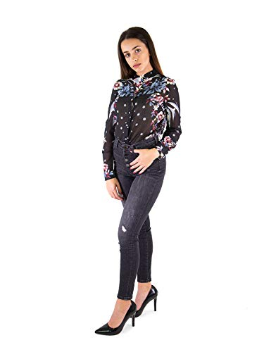 Autunno Black inverno And Dots W84h76 Flowers w70q0 Nera Donna Guess Camicia avqwRZRP
