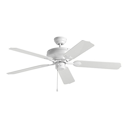 (Sea Gull Lighting 1540-15 Long Beach 52-Inch, Five-Blade Ceiling Fan, White Finish )