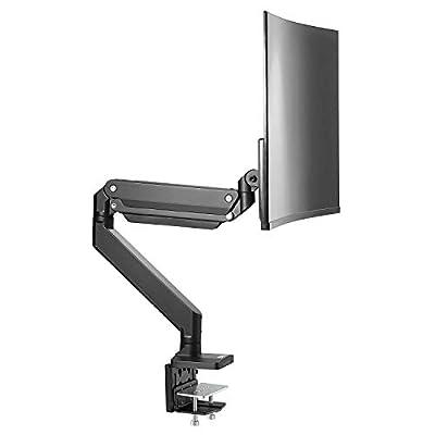 AVLT-Power Single Monitor Desk Mount Stand Riser