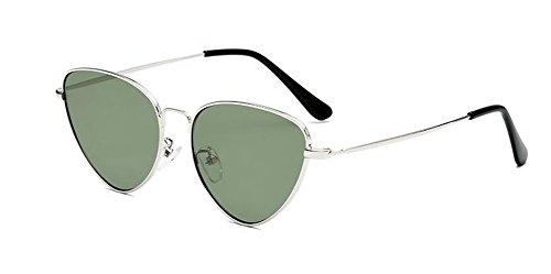 inspirées Lennon Film du retro rond cercle métallique de en style lunettes soleil Vert polarisées vintage qOStw448I