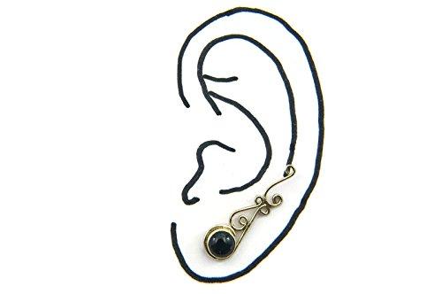 Boucles d'oreilles liaton avec Onyx 8 x 29 mm