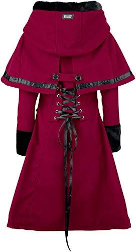 Rojo Abrigo Abrigo Mujer Elena Rojo Vixxsin 7xI1wqTBw