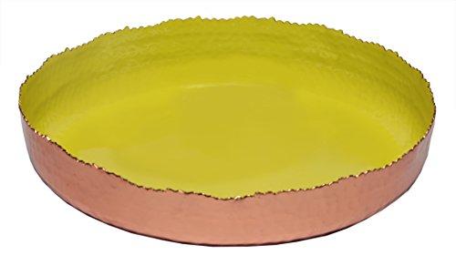 Platter 11 Round - Melange Home Decor Copper Collection, 11-inch Round Platter, Color - Lime Green
