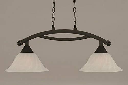(Toltec Pool Table Lights - Dark Granite Finish - 12