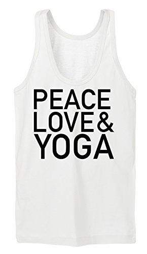 Peace Love & Yoga Tanktop Girls White Certified Freak