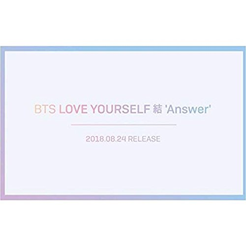 BTS [LOVE YOURSELF  ANSWER] Album 4 Ver SET+PhotoBook+M.Book+Card+Sticker+Tracking Number K-POP SEALED