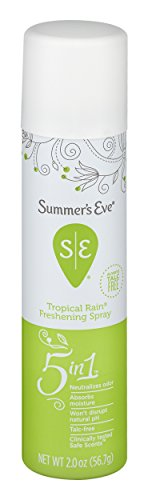 Summer's Eve Freshening Spray | Tropical Rain | 2 oz Size | Pack of 6 | pH Balanced, Dermatologist & Gynecologist Tested ()