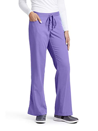 Grey's Anatomy 4232 Tie Front Pant Passion Purple M -