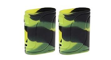 RAYEE – Carcasa de Silicona Funda Piel para eleaf istick Pico 25 85 W Mod Funda Black Green