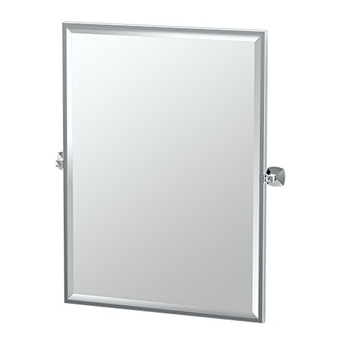 Gatco Rectangular Mirror - Gatco 4149FS Jewel Framed Rectangle Mirror, Chrome, 32.5