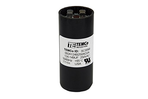 TEMCo Motor Start Capacitor SC0068-124-149 mfd 220-250 V VAC Volt uf Round HVAC AC Electric