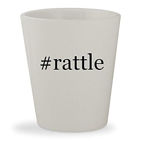 #rattle - White Hashtag Ceramic 1.5oz Shot Glass (Bla Bla Rattle)