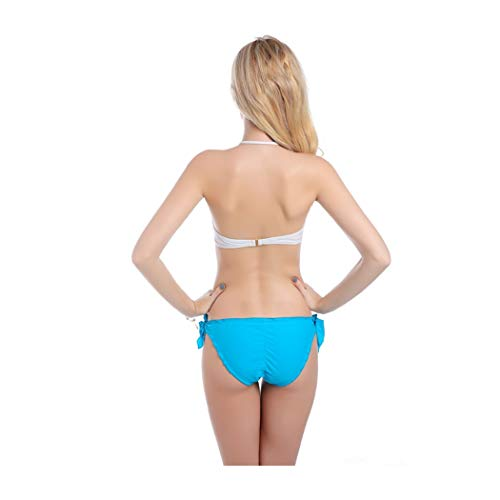 Color Donna white Blue Peacoc Tubino Backless Costume Bagno A Con Tinta Da Unica Philip UVSMpqz