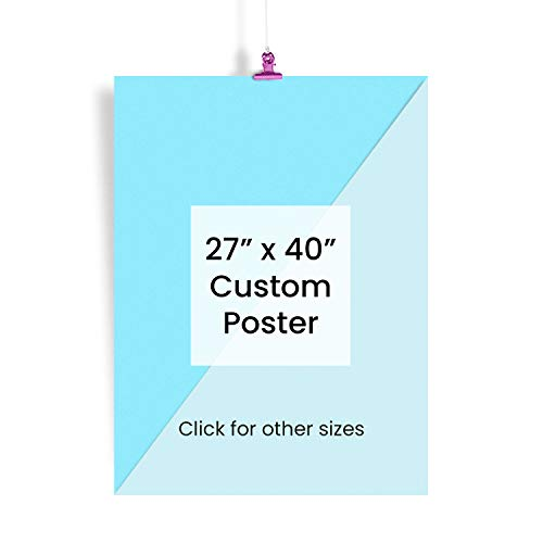 EzPosterPrints - Custom Poster Prints - Personalized Photo Image to Poster, Upload Your Image/Photo for Wall Art Printing - 27 X 40 inches