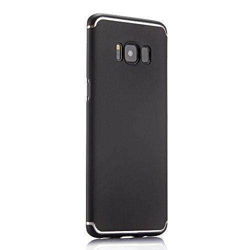 Funda para Samsung Galaxy S7Edge, Samsung G935F Carcasa, CLTPY Elegante y Delgada Cubierta de Plástico Duro con Patrón Blanco Simple para Samsung Galaxy S7Edge/G935F + 1 x Lápiz Gratis - Negro Negro
