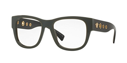 Versace VE3230 Eyeglass Frames 5193-54 - 54mm Lens Diameter Green - Prescription Glasses Versace
