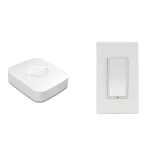 Samsung SmartThings Hub and Leviton Scene Capable Switch Bundle, Works with Amazon Alexa