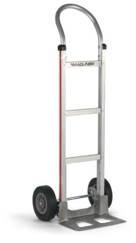 Magliner Aluminum Personal Use Hand Truck 111-A-WH60 Ribbed Tread Tires (USA)